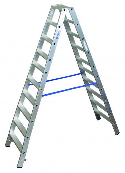 Stufen Doppelleiter 2x10 Sprossen