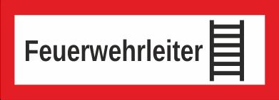"""Aufkleber UV Digitaldruck """"Feuerwehrleiter mit Symbol"""""""