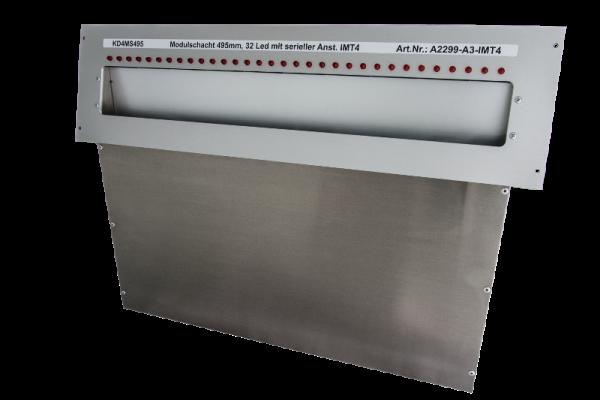 Laufkartenschacht KD4 A3 (495mm) mit Ledanzeige seriell