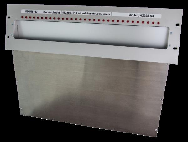 Laufkartenschacht KD4 A3 (19 Zoll) mit 34pol. FLK-Stecker + gesteuert