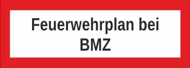 """Aufkleber UV Digitaldruck """"Feuerwehrplan bei BMZ"""""""
