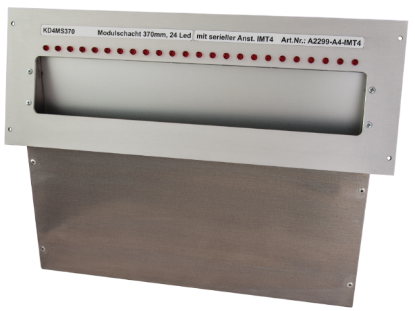 Laufkartenschacht KD4 A4 370mm mit Ledanzeige seriell