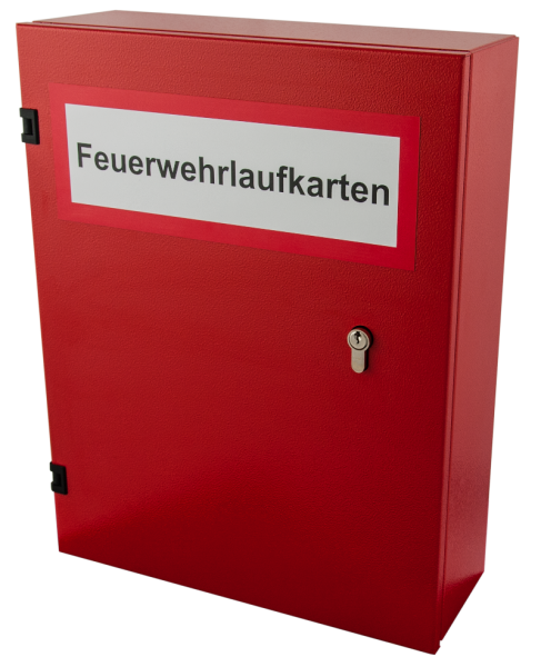 Feuerwehrlaufkartendepot KD10-A4v2 in RAL 3000
