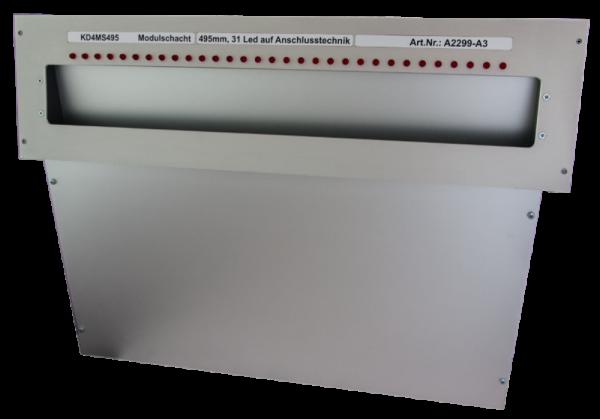 Laufkartenschacht KD4 A3 (495mm) mit 34pol. FLK-Stecker + gesteuert