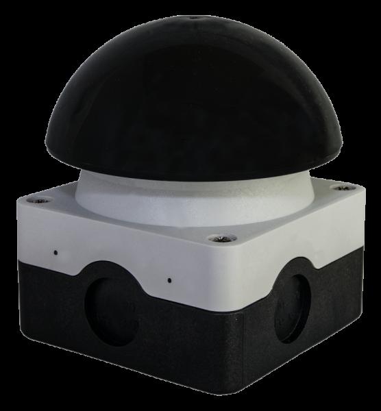 Schlagtaster schwarz AP-Montage