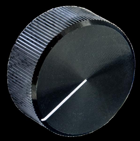 Drehknopf Ausführung in Alu schwarz, 30 mm