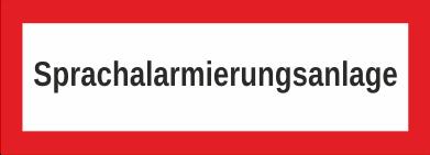 """Aufkleber UV Digitaldruck """"Sprachalarmierungsanlage"""""""