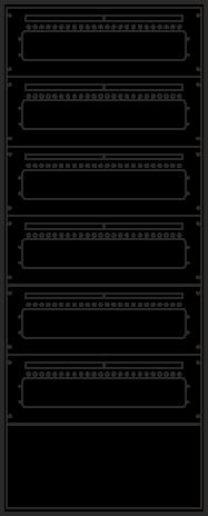 Laufkartendepot KD4 - 144 Leergehäuse A4