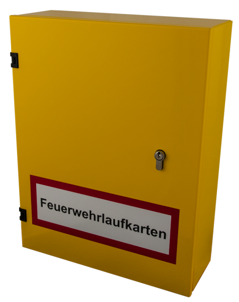 Feuerwehrlaufkartendepot KD10-A4v2 in RAL 1023