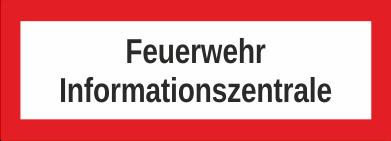 """Aufkleber UV Digitaldruck """"Feuerwehr Informationszentrale"""""""