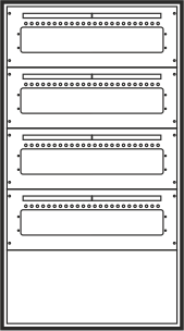 Laufkartendepot KD4 - 96 Leergehäuse A4
