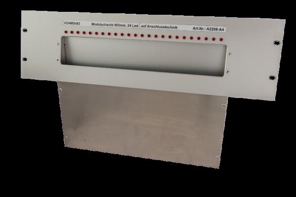 Laufkartenschacht KD4 A4 (19 Zoll) mit Ledanzeige seriell