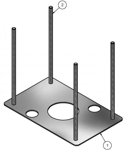 Ankerplatte für EdelstahlSäule K1-K5