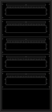 Laufkartendepot KD4 - 120 Leergehäuse A4