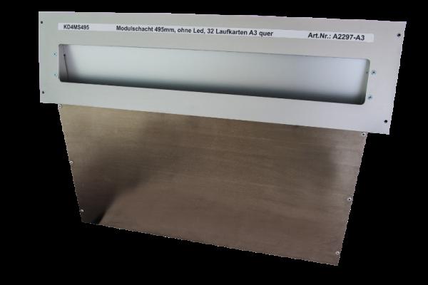 Laufkartenschacht KD4 A3 (495 mm) ohne Ledanzeige