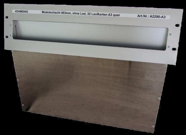 Laufkartenschacht KD4 A3 (19 Zoll) ohne Ledanzeige