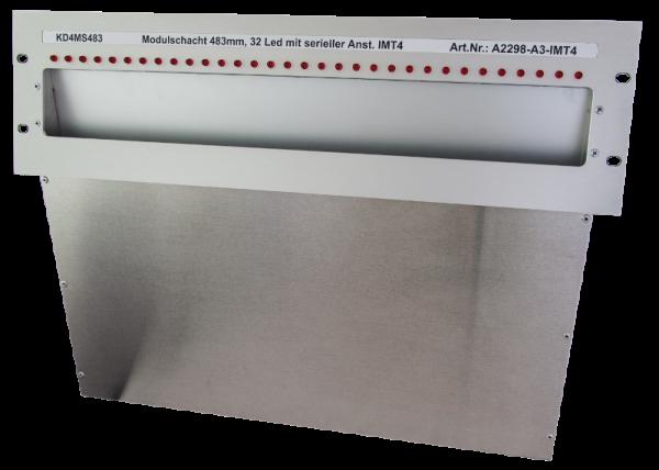 Laufkartenschacht KD4 A3 (19 Zoll) mit Ledanzeige seriell