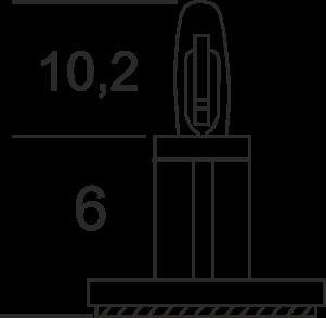 Abstandhalter für Relaismodul mit Klebesockel