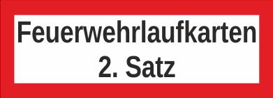 """Aufkleber UV Digitaldruck """"Feuerwehrlaufkarten 2. Satz"""""""