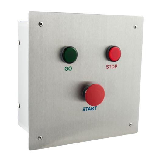 PA 400 Personalauslosungsgerät UP-Ausführung mit Edelstahlfrontplatte